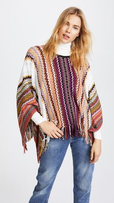 Missoni Zigzag Poncho. Poncho fashions. I'm an affiliate marketer. When you click on a link or buy from the retailer, I earn a commission.