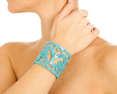 http://www.johannasimonds.com/collections/bracelets-cuffs/products/large-filigree-cuff-in-turquoise-by-bellissima