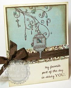 Be Brave...Branch Out - Ippity  LOVE THIS CARD>>> colors..sketch...ribbon!