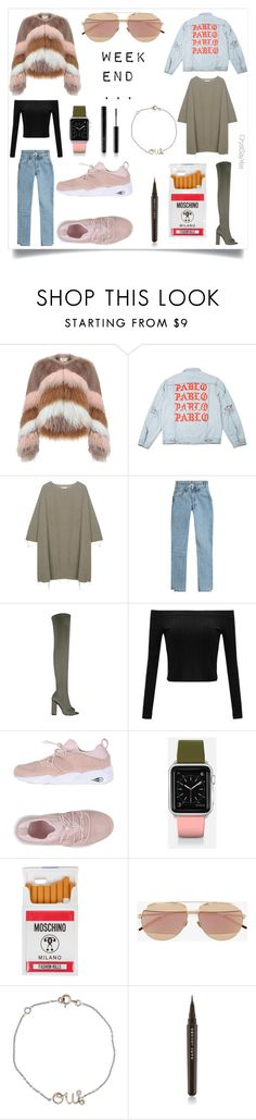 """""""creating Style  """"planche 2 tenues Week-end"""""""" by crystelpi on Polyvore featuring mode, Urbancode, BLACK CRANE, Vetements, Puma, Casetify, Moschino, Christian Dior et Marc Jacobs"""