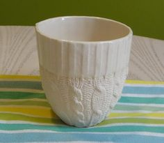 Cable Knit Ceramic Cup - Short!