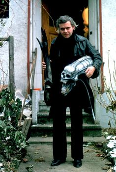 H.R. Giger on the set of Alien (1979)
