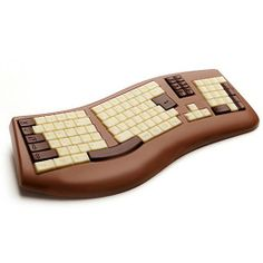 Clavier d'ordinateur en moulage chocolat