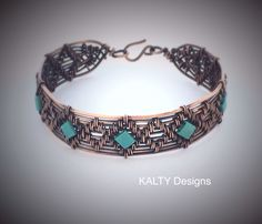 Oxidised copper bangle.