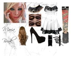 """Maria Brink"" by aliceemma54 ❤ liked on Polyvore featuring Giuseppe Zanotti, Retrò, Aurélie Bidermann, Bettie Page, Illamasqua, Prescriptives and Isadora"