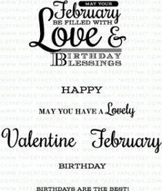 PTI Birthday Classics: February Mini Stamp Set 2769