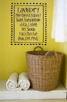 Laundry Room Vinyl Lettering
