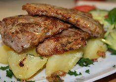 Čínské kotlety recept - TopRecepty.cz Food Network Recipes, Cooking Recipes, Bacon Roll, Steak, Rolls, Food And Drink, Chicken, Kebabs, Meat