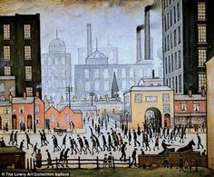 Coming From The Mill by LS Lowry, 1930...