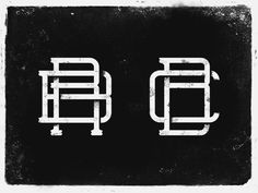 Vintage Two Letter Monogram Logo by Gergő Sztuchlak on Dribbble Letter Monogram, Monogram Logo, Letter Logo, Logo Design, Graphic Design, Vintage Monogram, Typography, Lettering, Design Reference