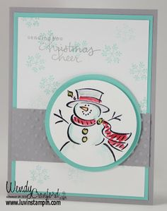 Best of Snow Card, Christmas Card, Snowman Card. http://www.luvinstampin.com/2013/11/best-of-snow-card.html
