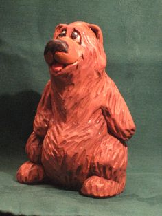 Hand Carved Bear by RWK Woodcarving https://www.etsy.com/shop/rwkwoodcarving