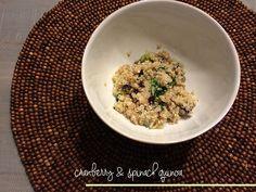 Copycat Publix Quinoa Grab and Go Salad- quinoa, spinach, cranberries