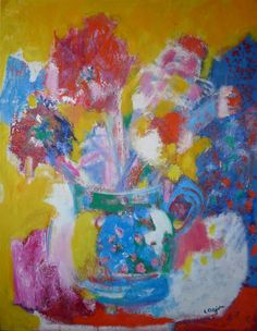 Bernard LorJou-1980 - Bouquet of Flowers