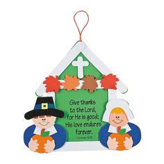 """""""Give Thanks"""" Sign Craft Kit - OrientalTrading.com"""