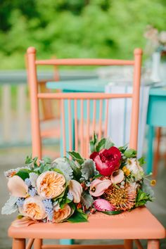Peach and mint tea party inspiration | Read More: http://www.stylemepretty.com/2014/06/27/colorful-tea-party-wedding-inspiration/ | Photography: emilydelamater.com | Planning, Design, Styling: lbrookevents.com | Florals: laurieandrewsdesign.com