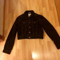 NWOT Old Navy crop corduroy brown jacket Awesome corduroy dark brown crop stretch jacket in perfect condition M in size Old Navy Jackets & Coats