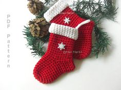 Crochet Christmas Stocking Ornament Pattern