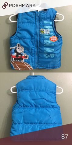 """🎈Kid's Sale🎈EUC Thomas the Train Puffer Vest, 2T EUC Thomas the Train Puffer Vest, 2T🎈This item is eligible for my Kid's Sale Promo of """"3 for $15"""" or """"5 for $25."""" Just send in an offer and I'll accept.😃🎈 Jackets & Coats Vests"""
