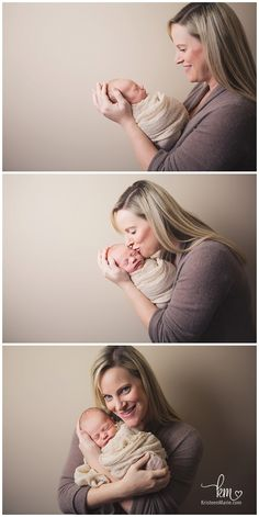 Mom and newborn baby shots - poses for mom and newborn - newborn + mom photography pose