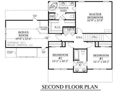 House Plan 1883-A HARTWELL Second Floor Plan
