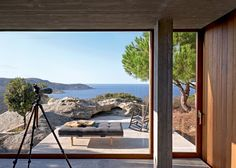 A Home With Sea View On Corsica via Marie Claire Maison Interior Exterior, Exterior Design, Future House, My House, Outdoor Spaces, Outdoor Living, House Viewing, Greenwich Village, Farmhouse Plans