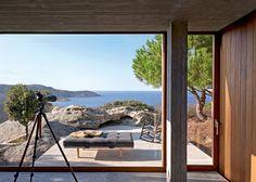 Home hiden in the nature / Terrace with a beautiful view / Une terrasse avec vue sur la mer / Une maison cachée dans la nature - Marie Claire Maison