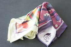 FatCloth Björn and Sami pocket squares by Sami Viljanto. http://www.thefatcloth.com/products/sami