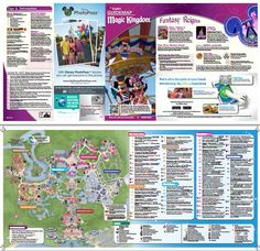 Magic Kingdom park map - print/view at home before you get there (PDF)