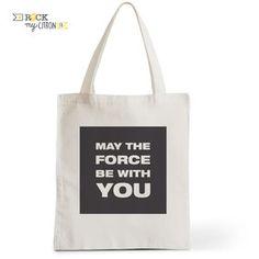 Tote Bag Rock my Citron,  The Force, Cadeaux Fêtes, Anniversaires, Naissances