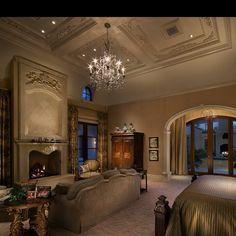 elegant master.... Luxury master bedroom