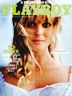 Playboy Italy April 1985 with Bo Derek on the cover of the magazine