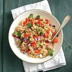 Red Pepper Couscous | CookingLight.com