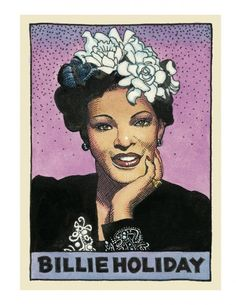 Legends of the Blues by William Stout. Billie Holiday