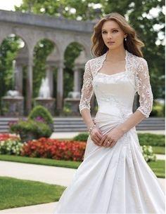 silver bridal shrug