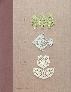 Cute little crochet motifs.  Being Dutch I especially like the tulip.