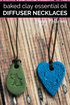 Want a beautiful essential oil diffuser necklace without the high price? Learn how to make DIY Baked Clay Diffuser Necklaces. We also discuss how to use your favorite EO blends with your diffuser jewelry. This easy tutorial is fun for kids and makes a great homemade gift idea too! #essentialoils #diffusernecklace #essentialoiluses #easycrafts #homemadegifts #giftsfromkids #essentialoildiffuser #diffusers #diyjewelry #diydiffusernecklace #howto #diy #diygifts #doterra #youngliving…