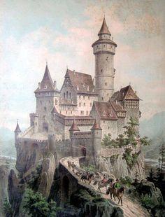 Free Vintage Clip Art Castle The Graphics Fairy Fantasy castle Clip art vintage Castle art