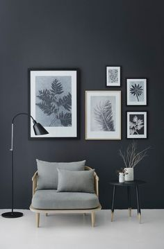botanical feature wall | the lovely drawer | interior decor