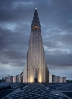 Hallgrímskirkja, the largest church in Iceland, was designed by state architect Guðjón Samúelsson to resemble the basalt lava flows common throughout the country. It took 38 years to build, and is one of the most recognizable (and most photographed!) landmarks in Iceland.
