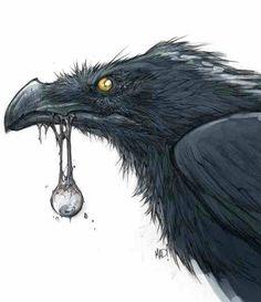 Joe Madureira art: DarksidersII Dust eating an eye concept art Crow Art, Raven Art, Rabe Tattoo, Character Art, Character Design, Character Concept, Bild Tattoos, Art Sculpture, Creature Design