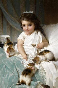 Calico Kittens - not sure of the artist
