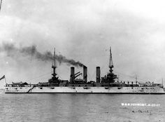 19-N-12828: USS Vermont (Battleship # 20). Photographed on 20 August 1907. Photograph from the Bureau of Ships Collection in the U.S. National Archives.