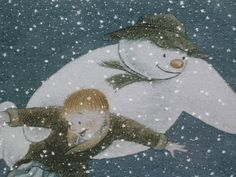 The Snowman-- this came onto PBS when I was maybe My parents taped it and they also taped the Sesame Street Christmas special and it was my own little tradition to watch it every year and as often as my parents would allow. Best Christmas Movies, Merry Christmas To All, Christmas Books, Father Christmas, Sesame Street Christmas, Snowman And The Snowdog, Raymond Briggs, Holiday Gif, I Love Snow