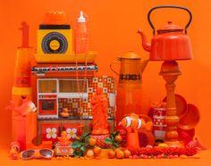 Crazy colors by Aline Houdé-Diebolt – Fubiz Media Orange Aesthetic, Aesthetic Colors, Retro Aesthetic, Orange You Glad, Orange Is The New, Orange Zest, Orange Color, Orange Shades, Calming Colors
