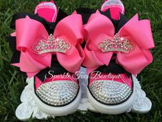 PRINCESS INITIAL SHOES Birthday shoes Girls by SparkleToes3