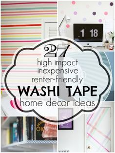 27 Washi Tape Home D