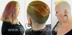 BBW long to shaved video #ShortHaircutGirls.com