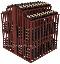 """Wooden 480 Bottle Double Reveal Aisle Wine Cellar Rack Storage Kit in Mahogany with Cherry Stain by Wine Racks America®. $1457.54. 1 3/8"""" Toe Kick Standard:We lift our racks up higher so your bottles are not sitting on the floor. Eco-friendly wood sources in sustainable forests. Some Assembly May Be Required. Create endless wine displays and aisle ways. 100% Lifetime Warranty backed by our Price Match Guarantee!. Standard 3 3/4"""" bottle cubicles:Fits most of th..."""