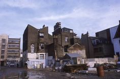 Demolition work in Commercial Rd prior to Watney market redevelopment, Jan 1969
